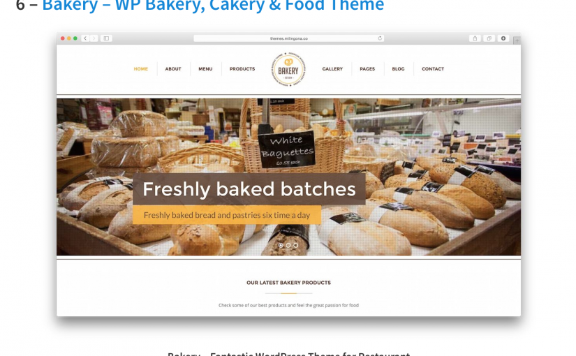 Bakery Theme listed on WP Arena